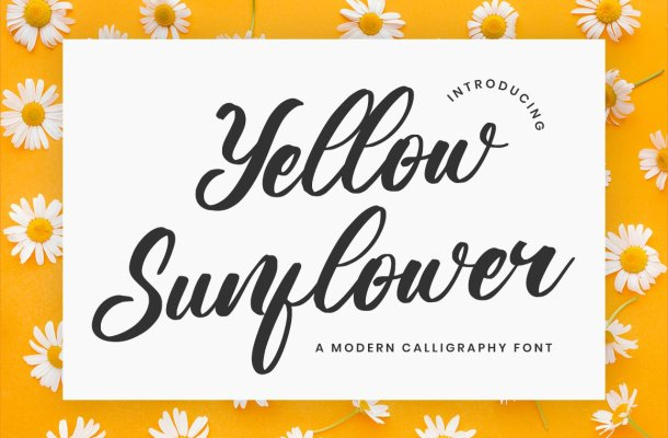 Yellow Sunflower Font