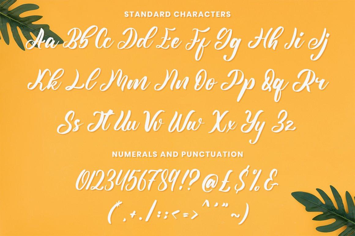Yellow Sunflower calligraphy Font -3