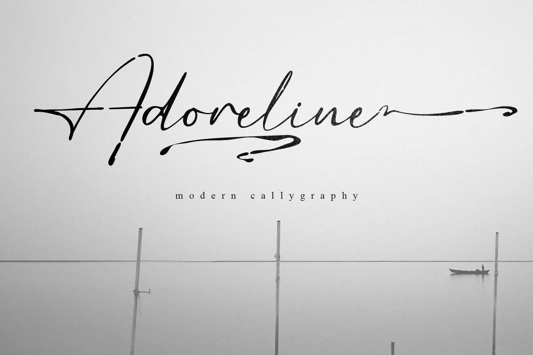 Adoreline Modern Calligraphy Font -1