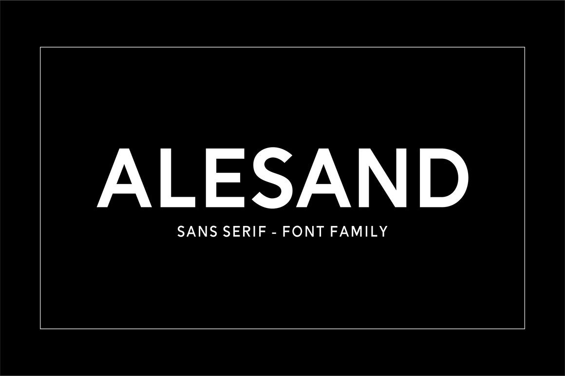 Alesand Sans Serif Font -1