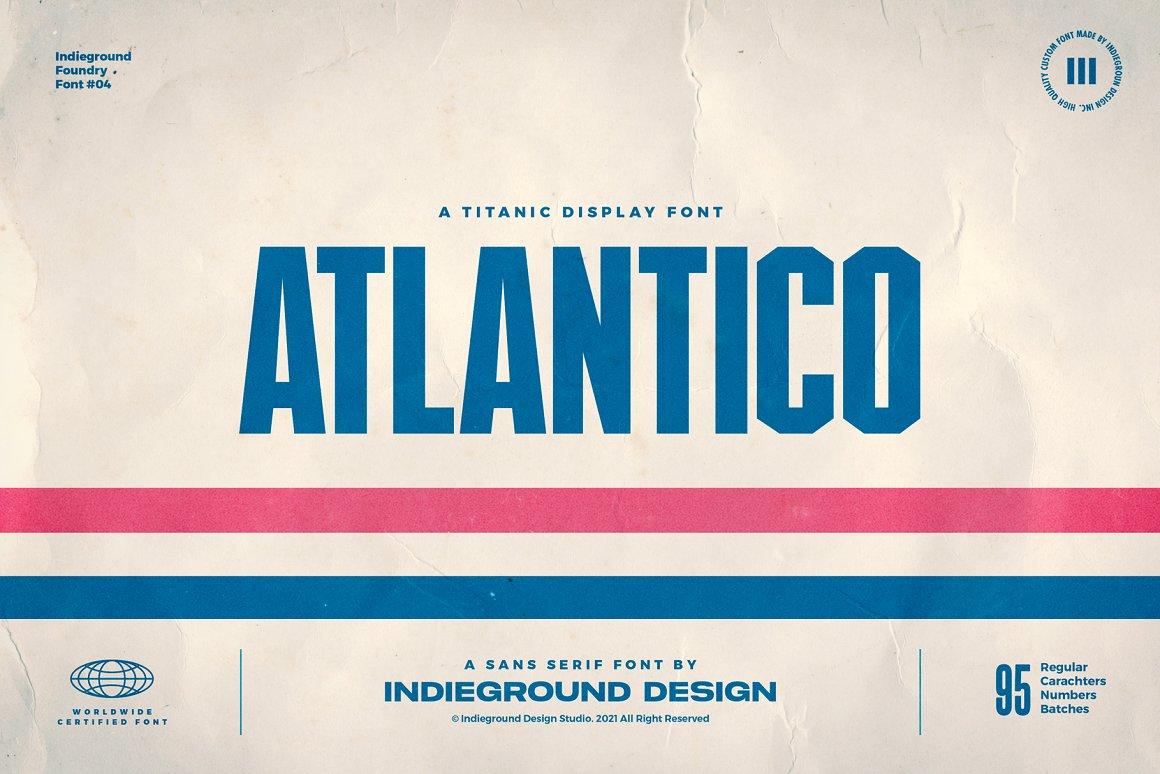 Atlantico Sans Serif Font -1