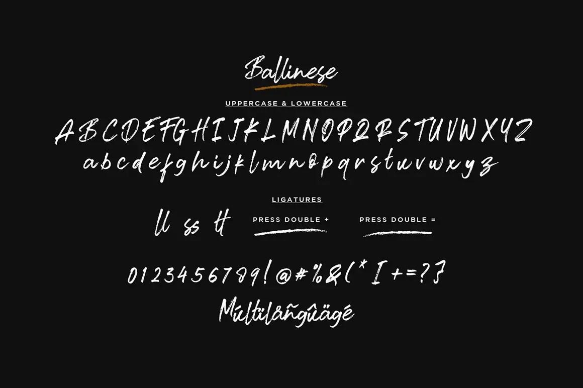 Ballinese Textured Brush Font -3