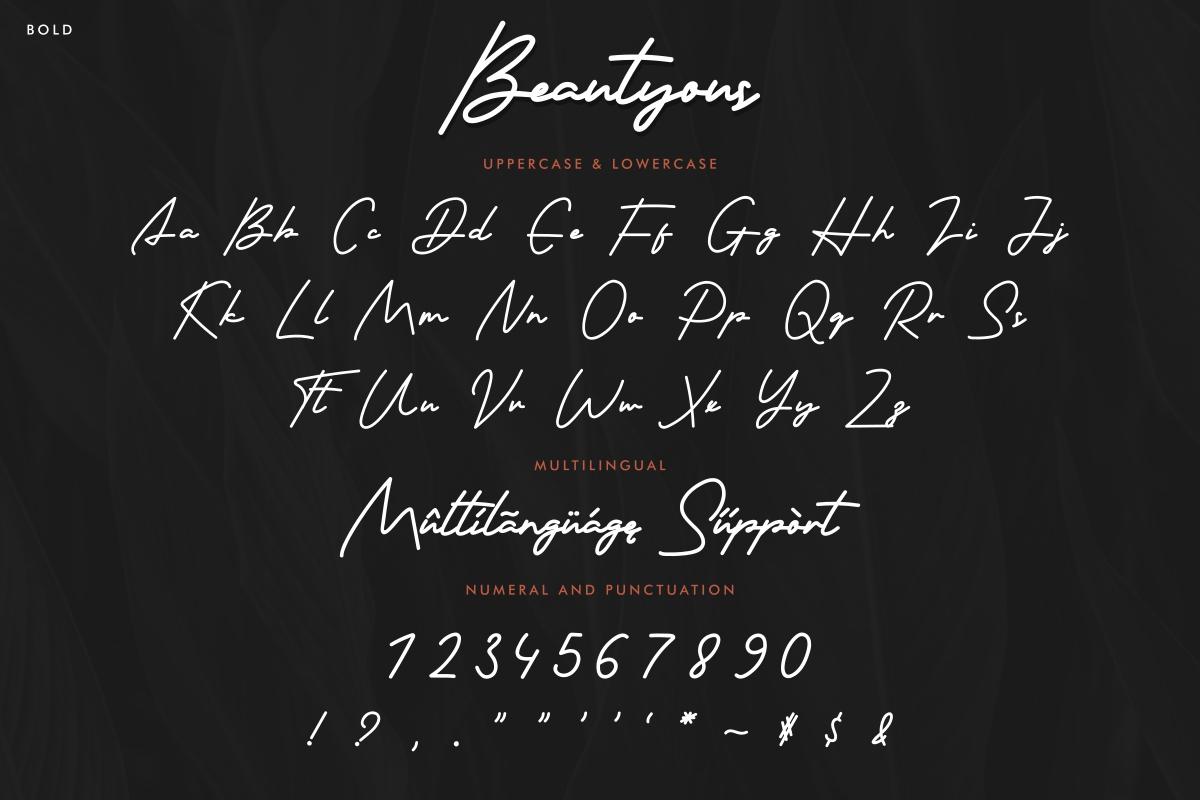 Beautyous Signature Script Font -3