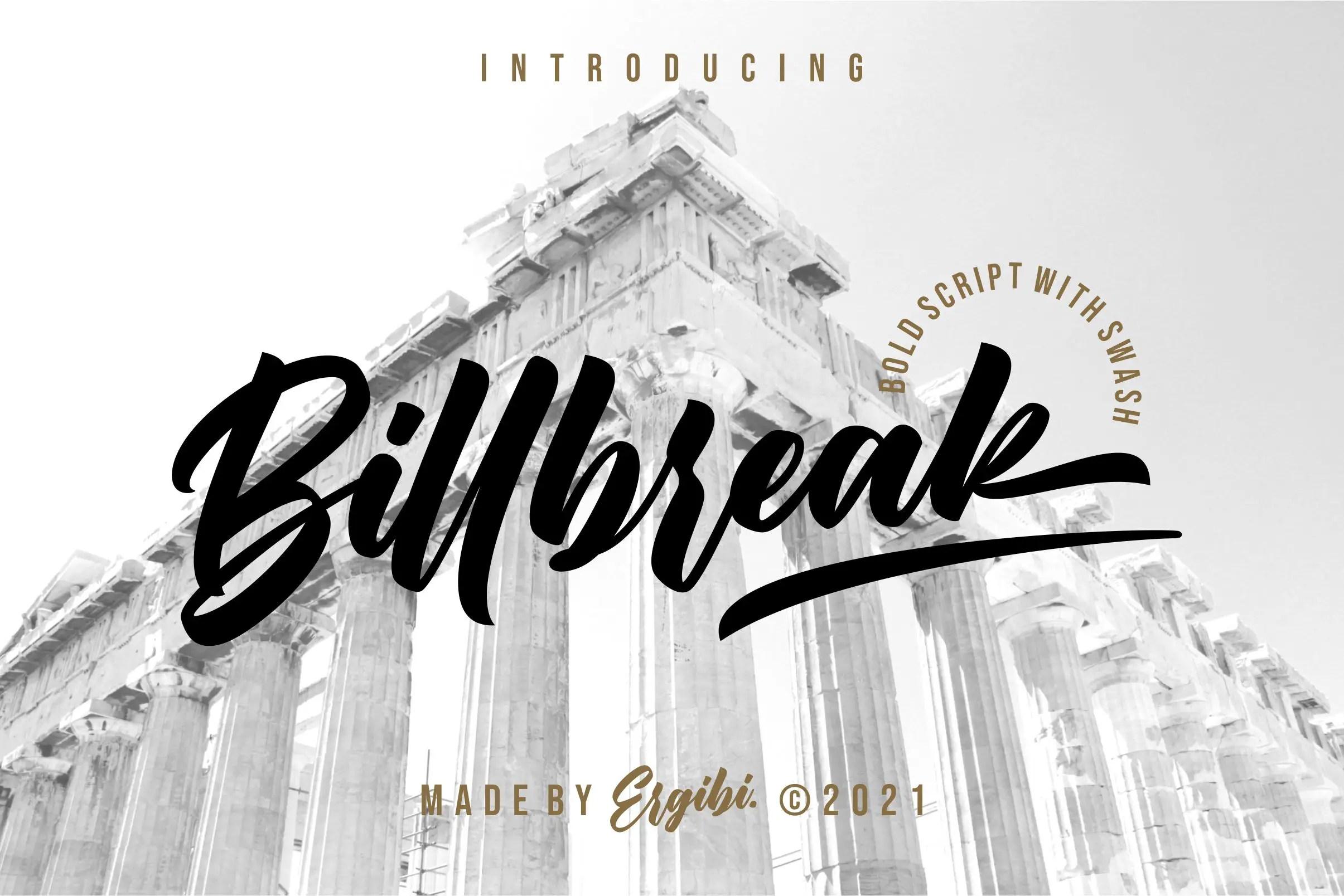 Billbreak Bold Script Font -1