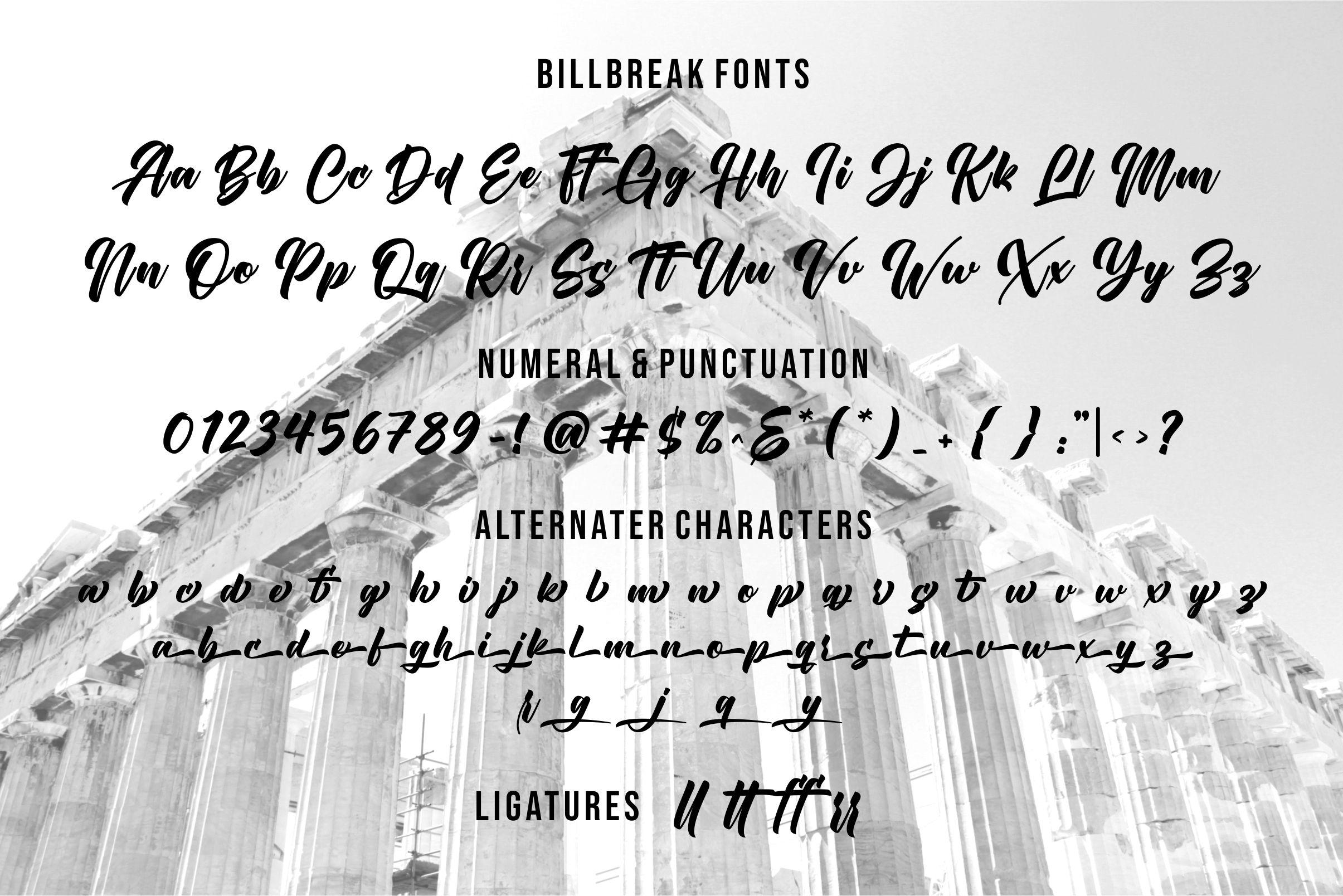 Billbreak Bold Script Font -3