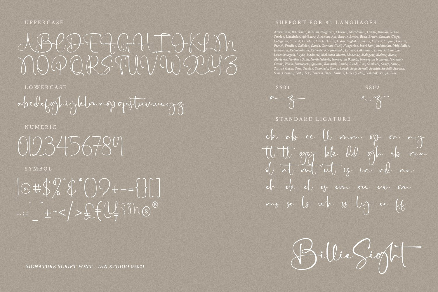 Billie Sight Signature Calligraphy Font -3