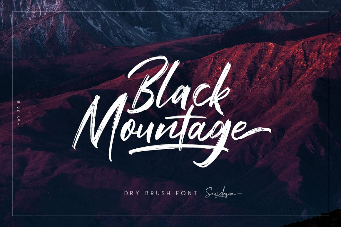 Black Mountage Brush Script Font -1