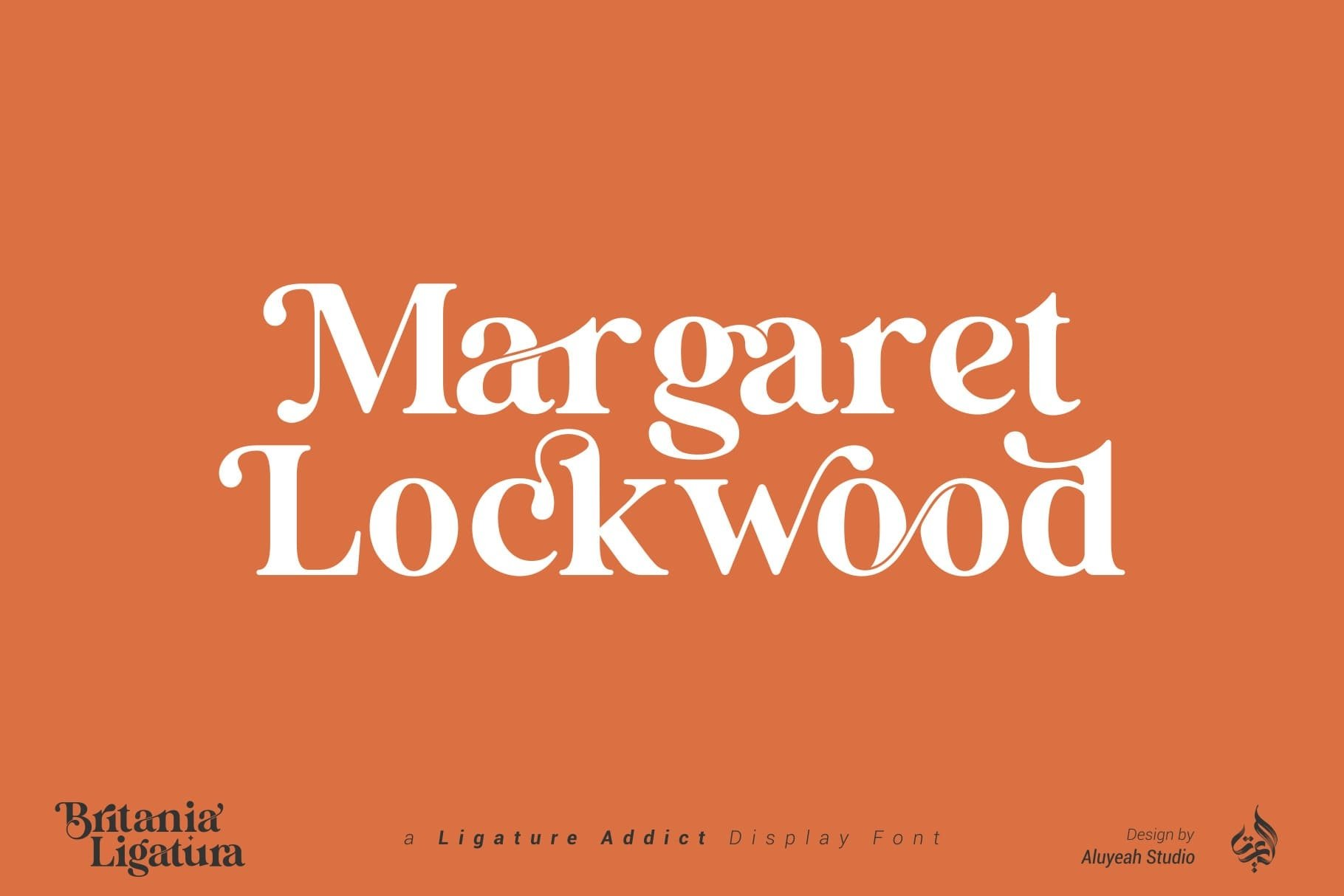 Britania Ligatura Serif Font -2