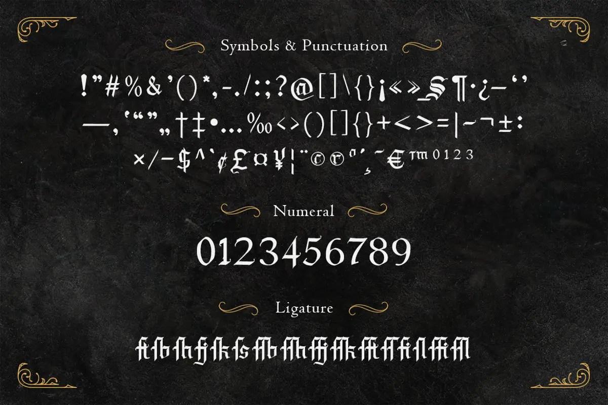 Draculie Blackletter Font -3
