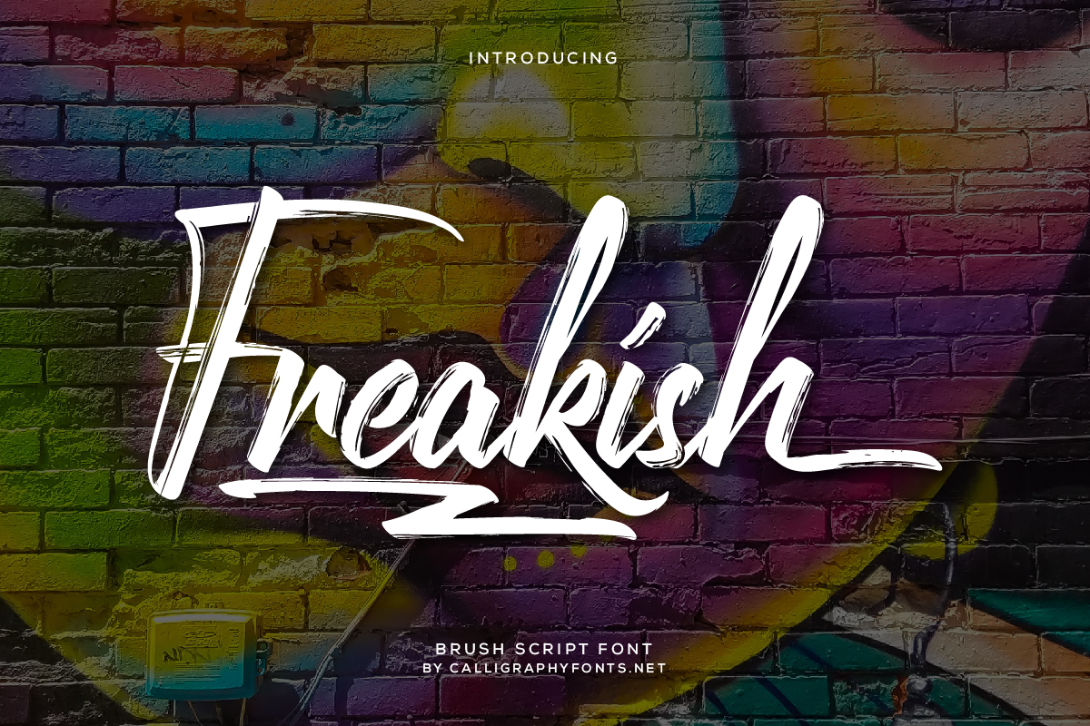 Freakish Grunge Brush Font -1