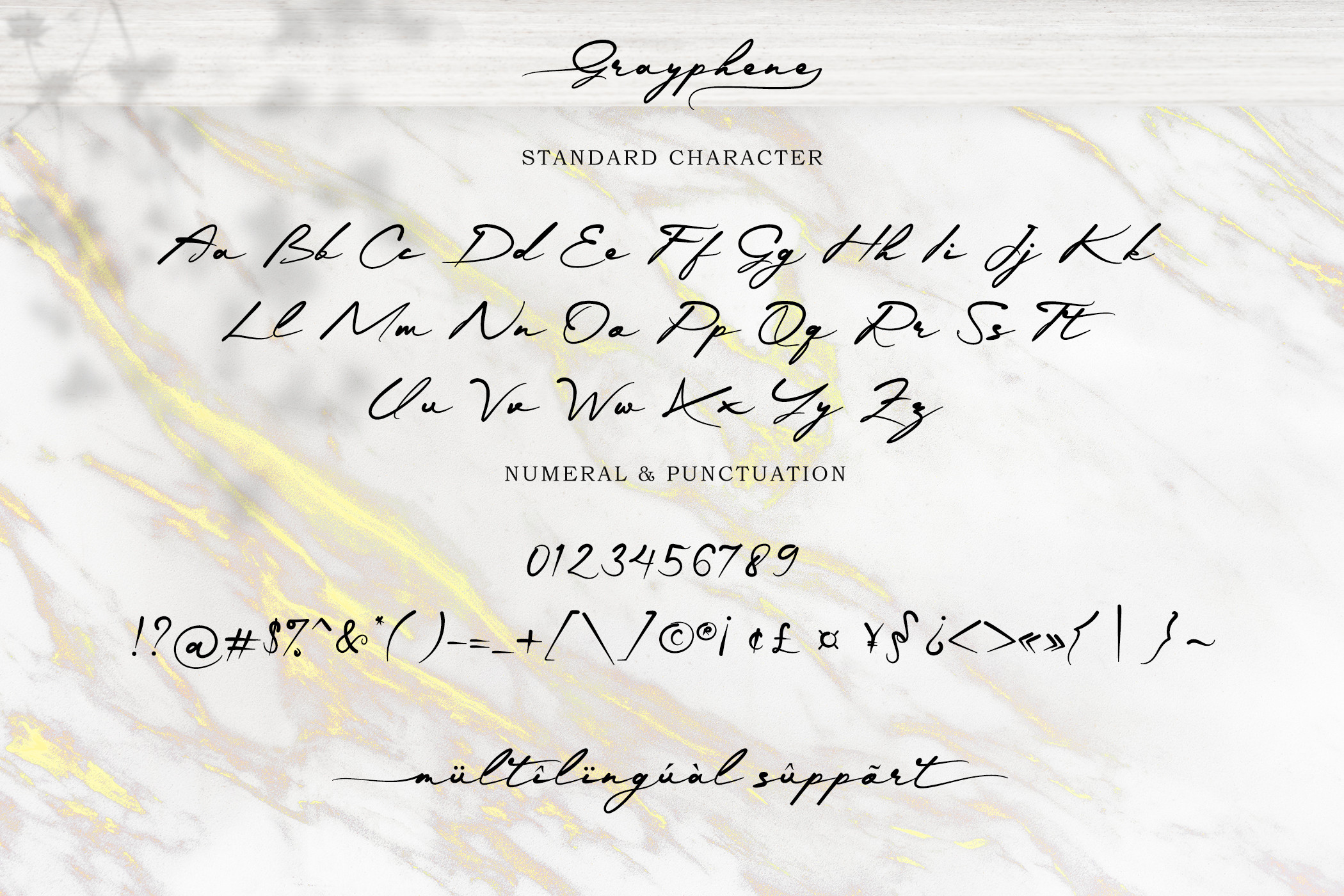 Grayphene Classic Calligraphy Typeface -3