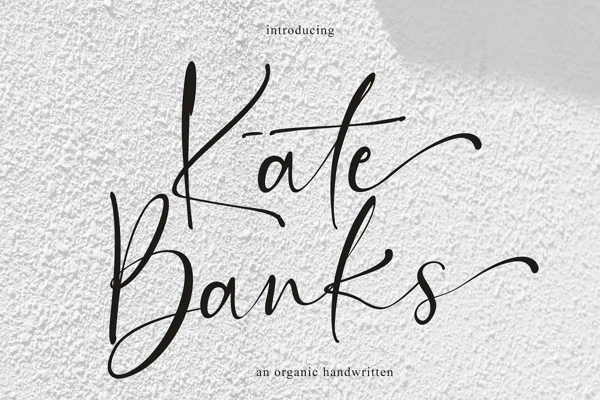 Kate Banks Handwritten Font -1