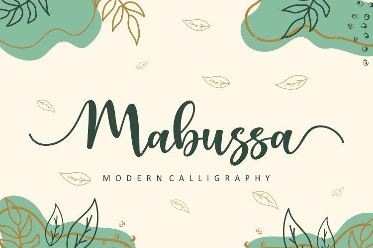 Mabussa Modern Calligraphy Font -1
