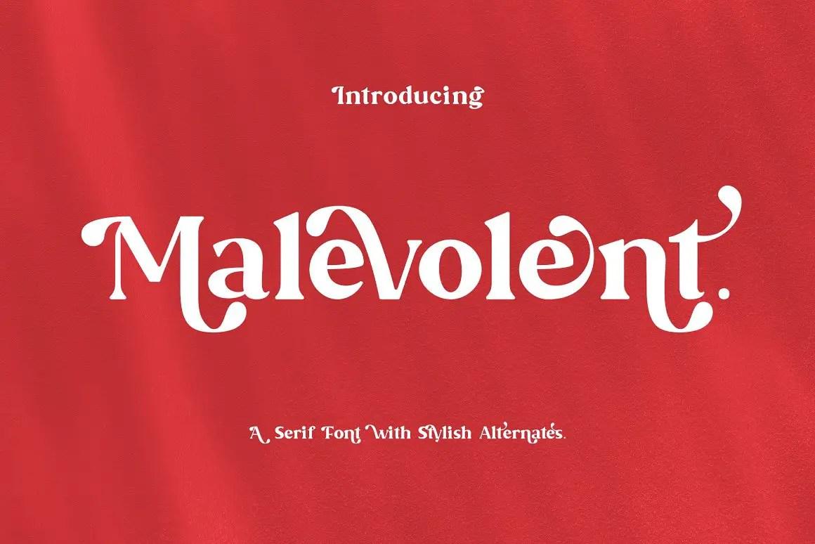 Malevolent Serif Font -1