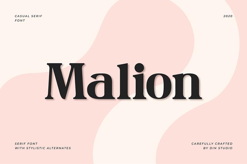 Malion Modern Serif Font -1