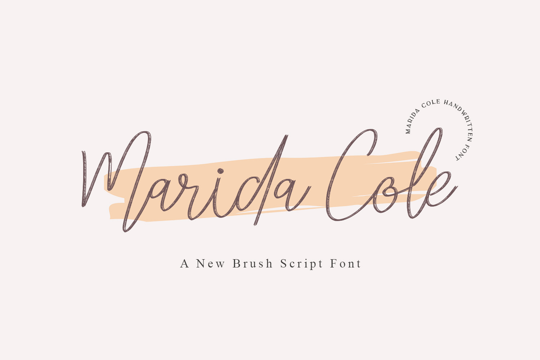 Marida Cole Handwritten Script Font -1
