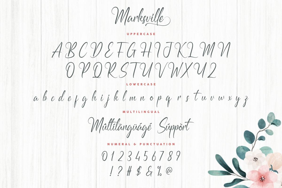 Marksville Stylish Calligraphy Font -3