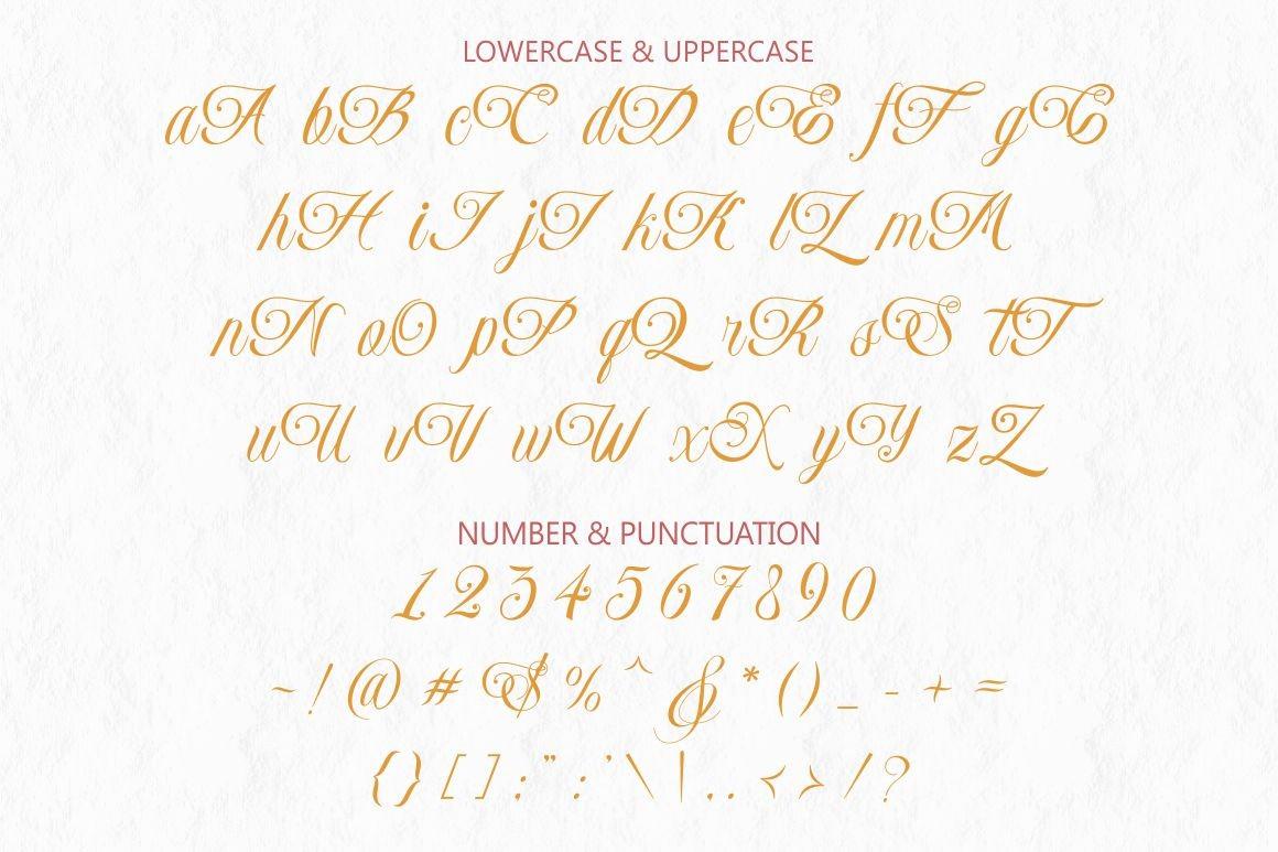 Monaveen Luxia Calligraphy Font -3