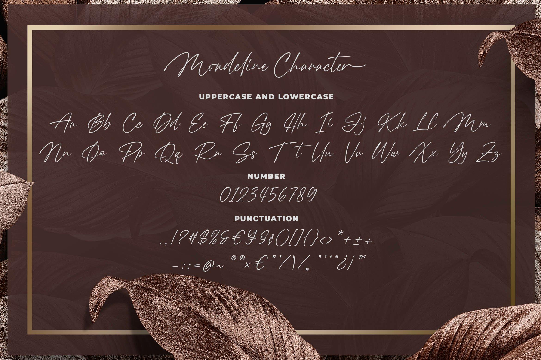 Mondeline Clean Signature Font -3