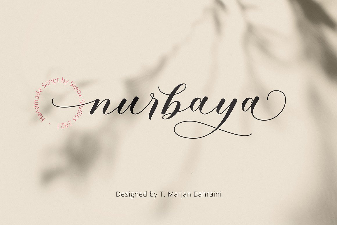 Nurbaya Modern Calligraphy Font -1