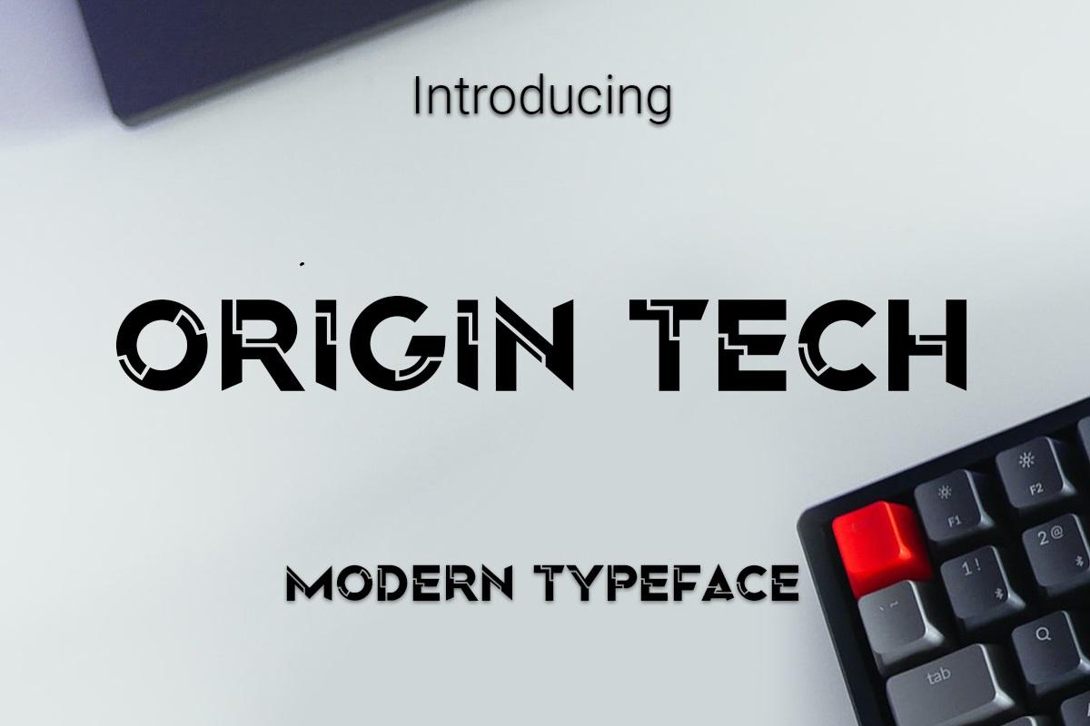 Origin Tech Display Typeface -1