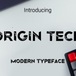 Origin Tech Font