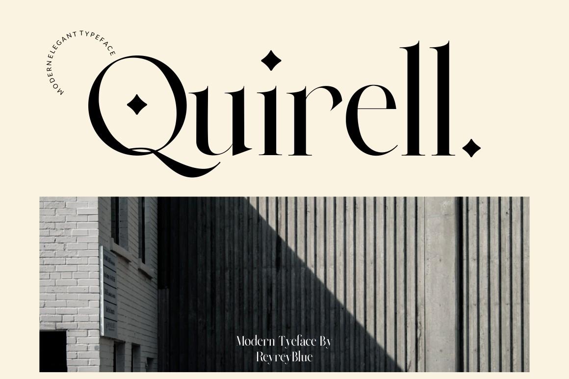 Quirell Modern Serif Font -1