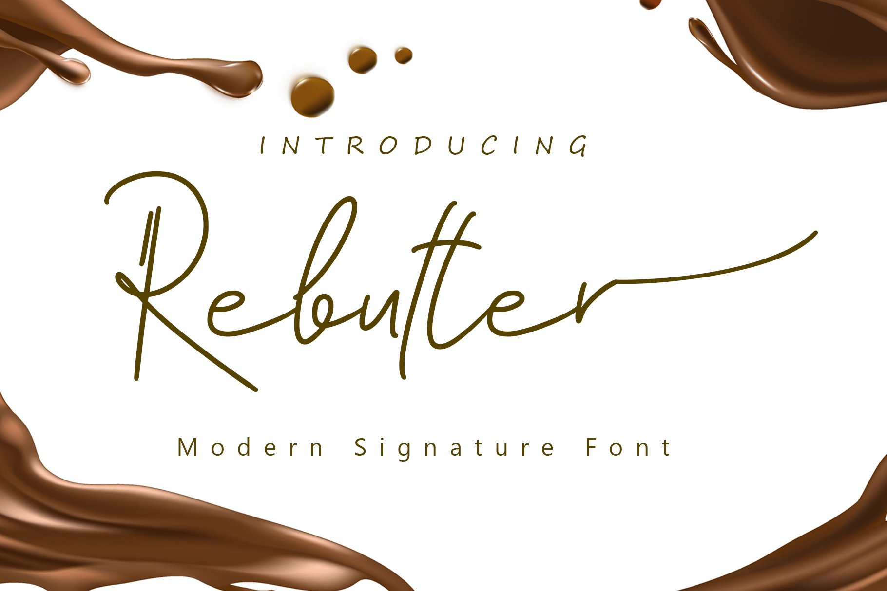 Rebutter Fashionable Handwritten Font -1