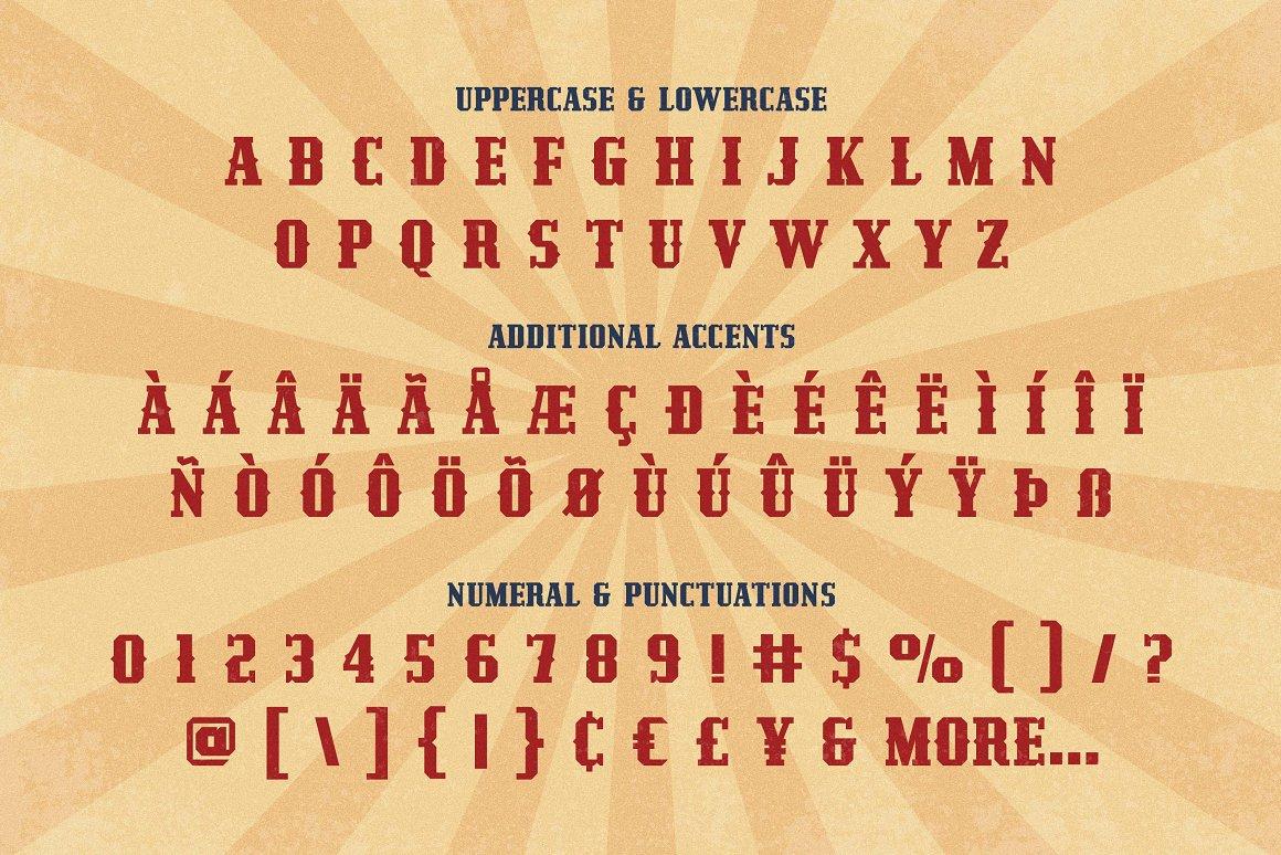 Redzein Vintage Slab Serif Font -3