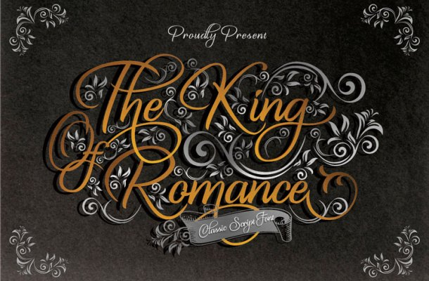 The King Of Romance Font