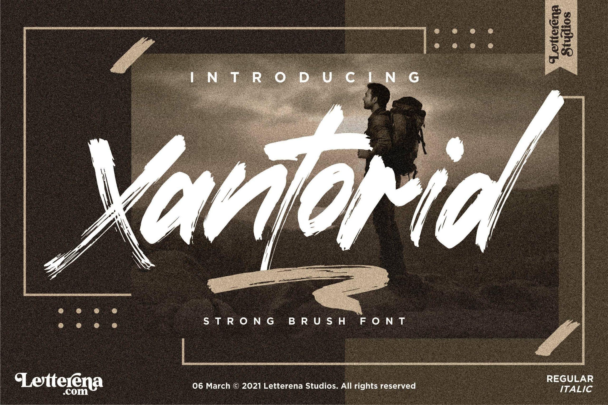 Xantorid Premium Brush Font -1