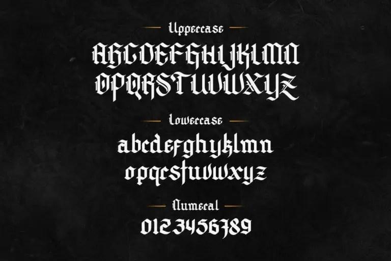 Archking Modern Blackletter Font -2