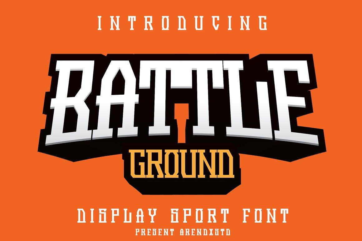 Battleground Display Font -1