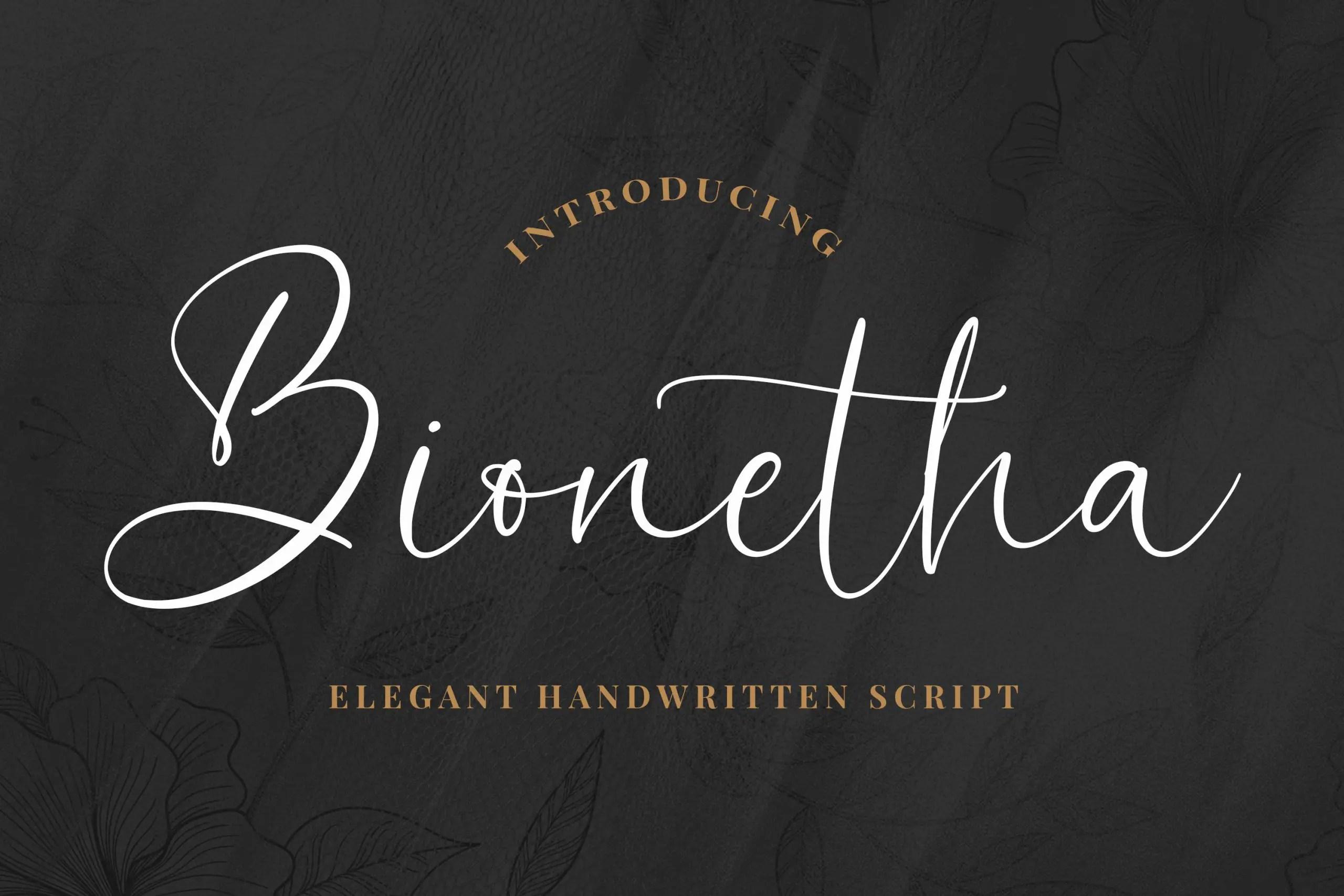 Bionetha Elegant Handwritten Script Font -1