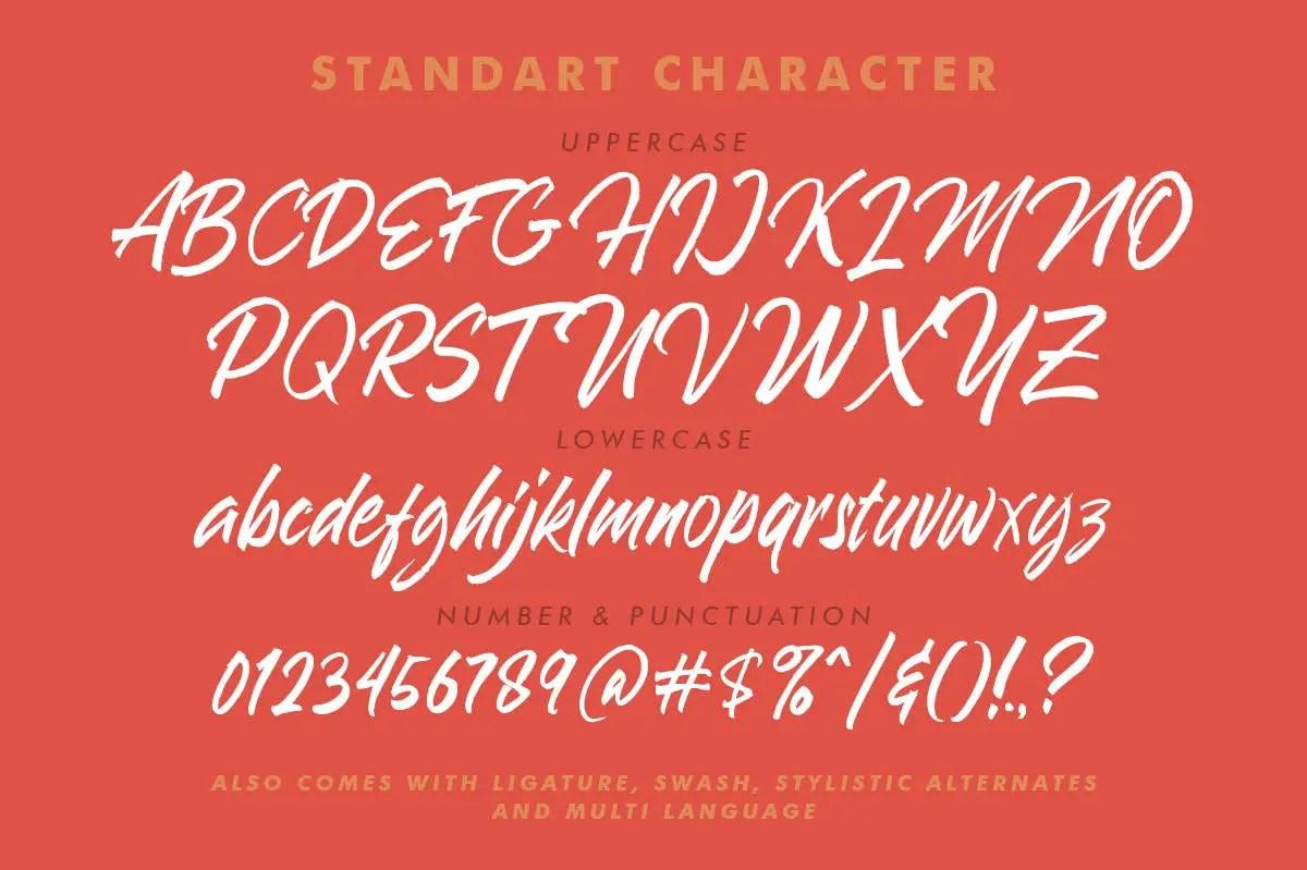 Blakestone Script Brush Font -3