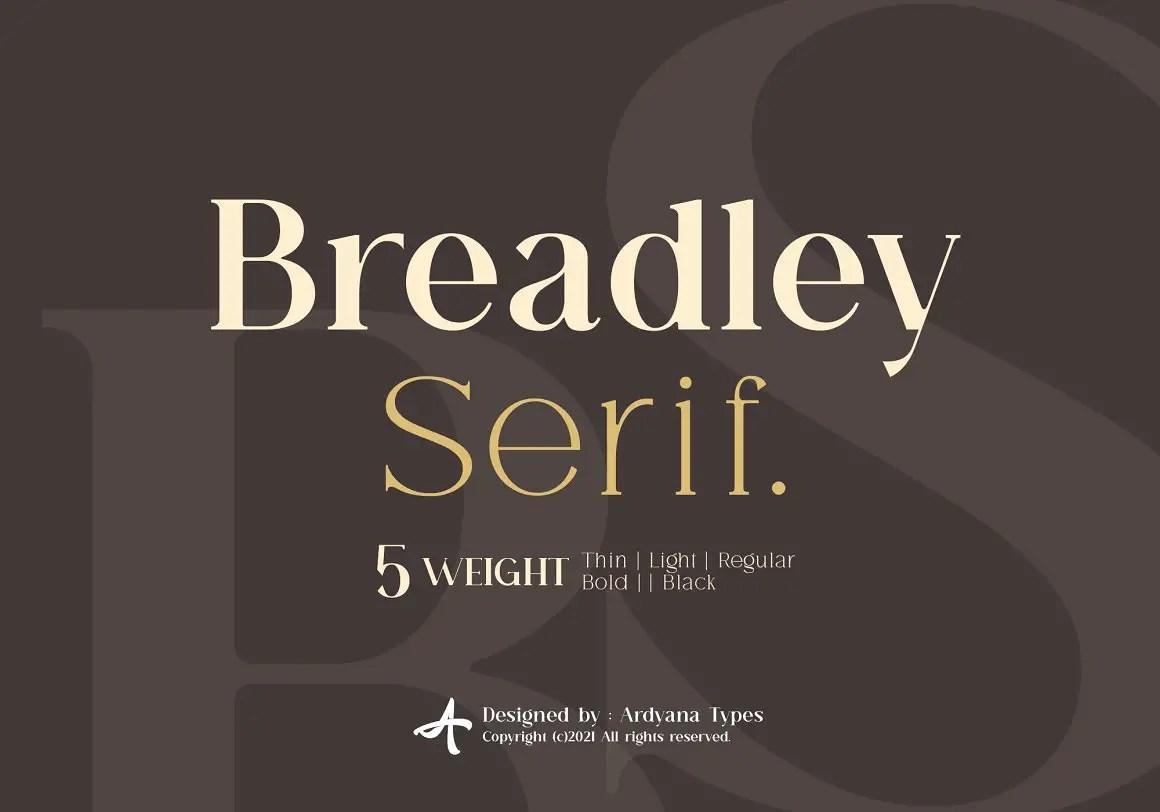 Breadley Serif Font -1