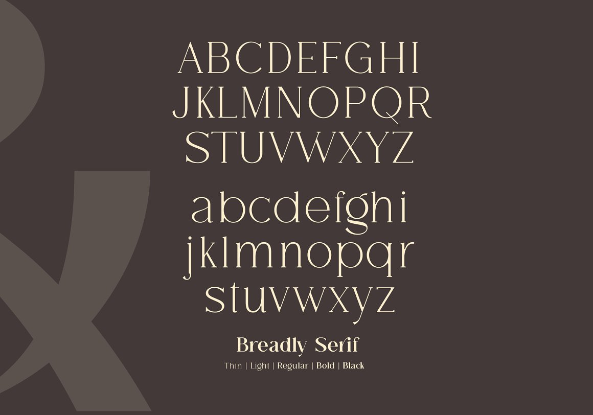 Breadley Serif Font -2