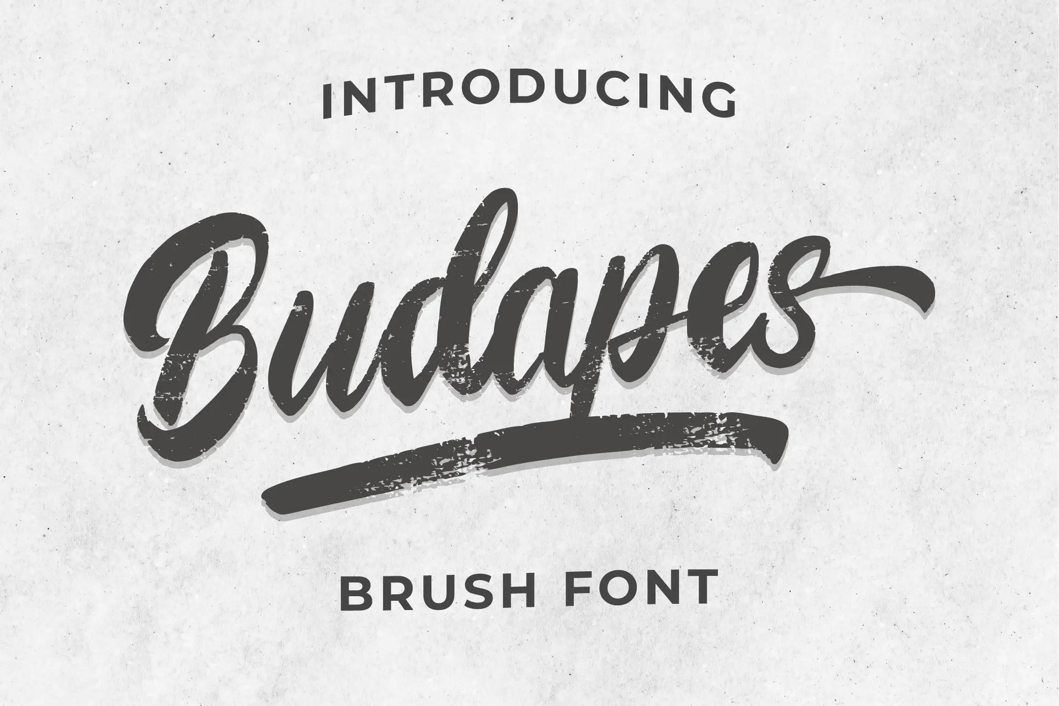 Budapes Brush Font -1