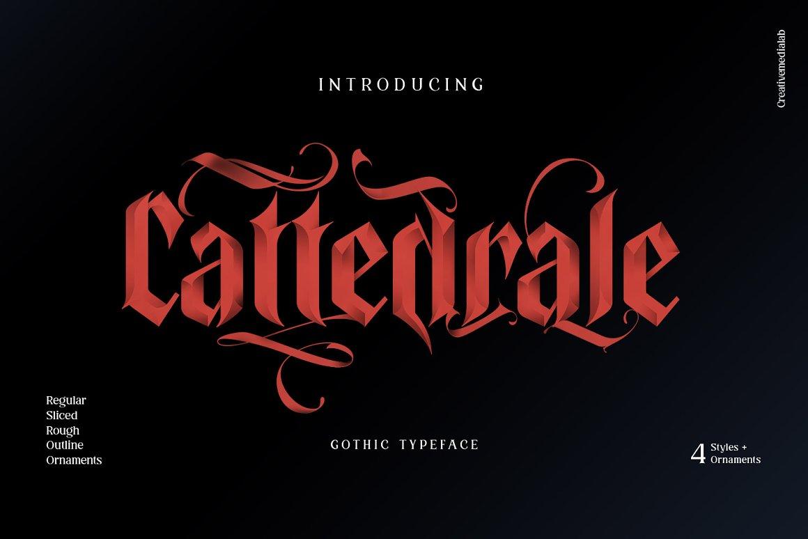Cattedrale Gothic Blackletter Font -1