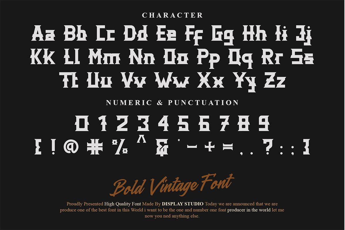 Distric of Barthon Display Font -3