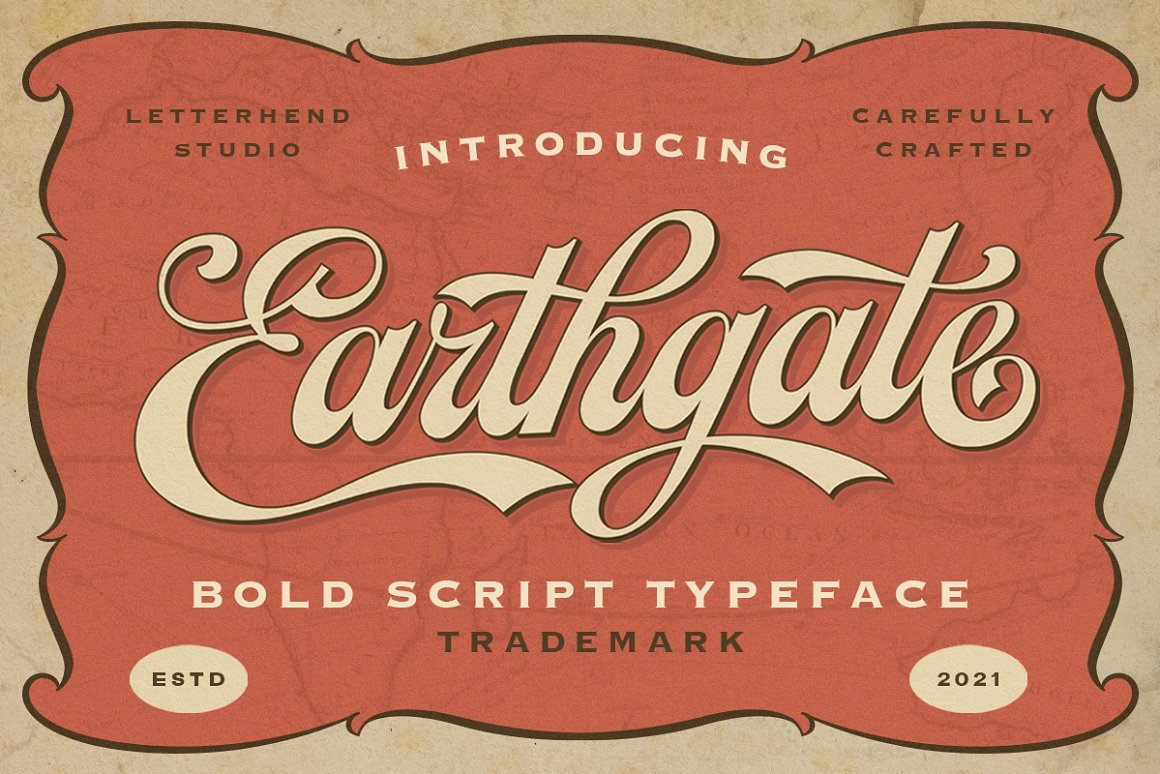 Earthgate Bold Script Typeface -1