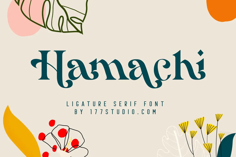 Hamachi Ligature Serif Font -1