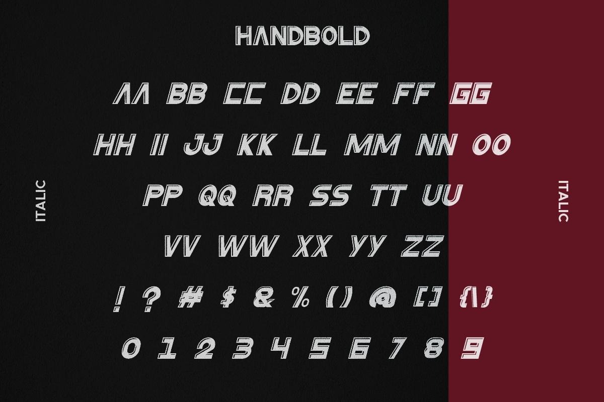 HanBold Sans Serif Font -3