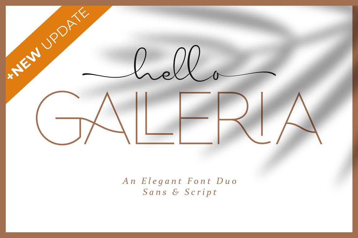 Hello Galleria Script Sans Font Duo -1