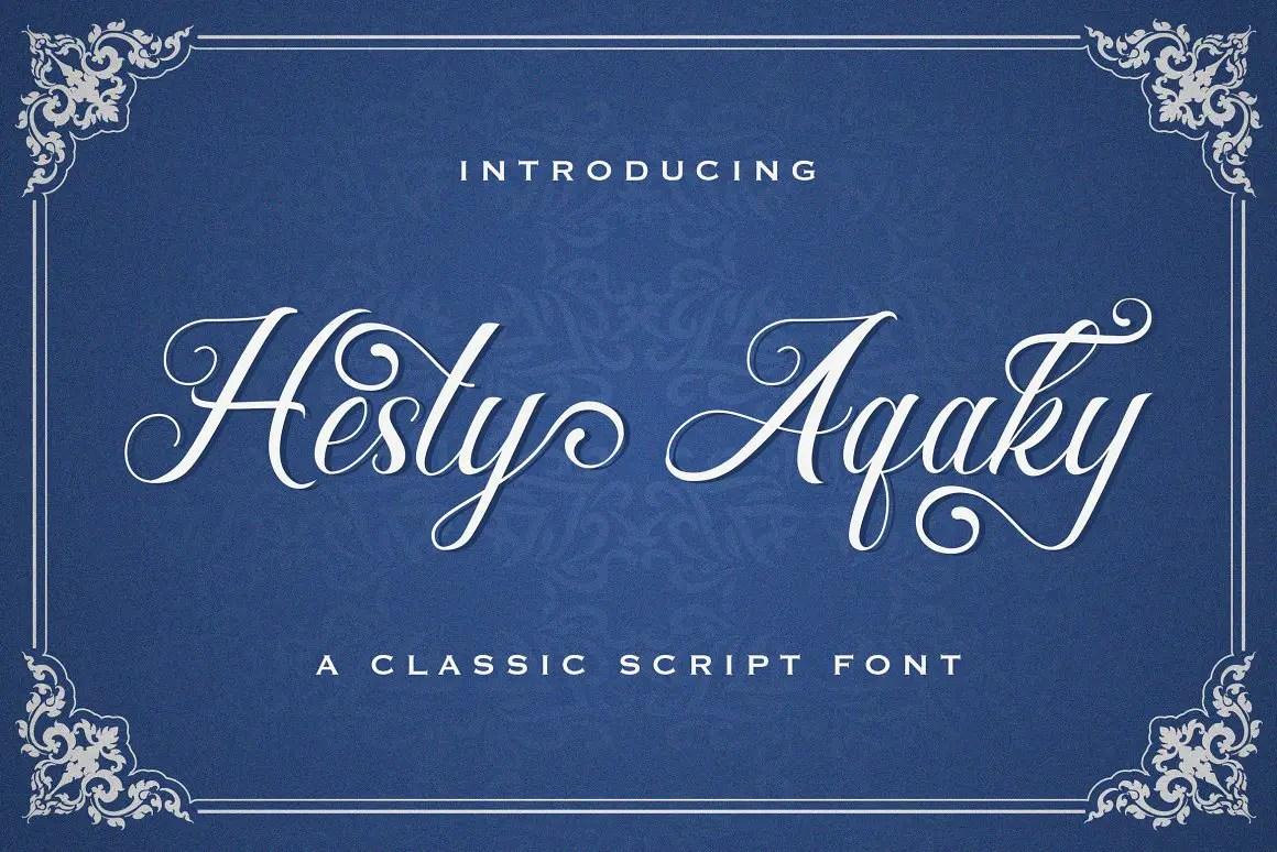 Hesty Aqaky Modern Script Font -1