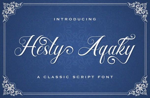 Hesty Aqaky Font