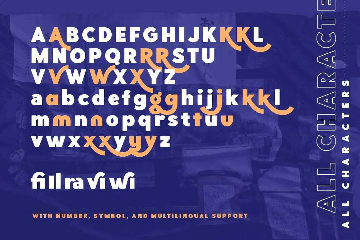 Hillray Sans Serif Font -3