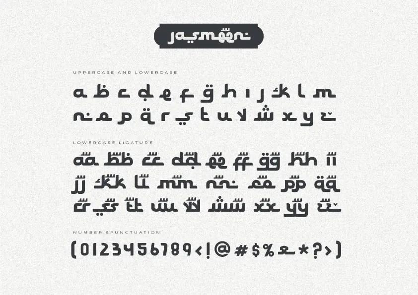 Jasmeen Arabic Display Font -3