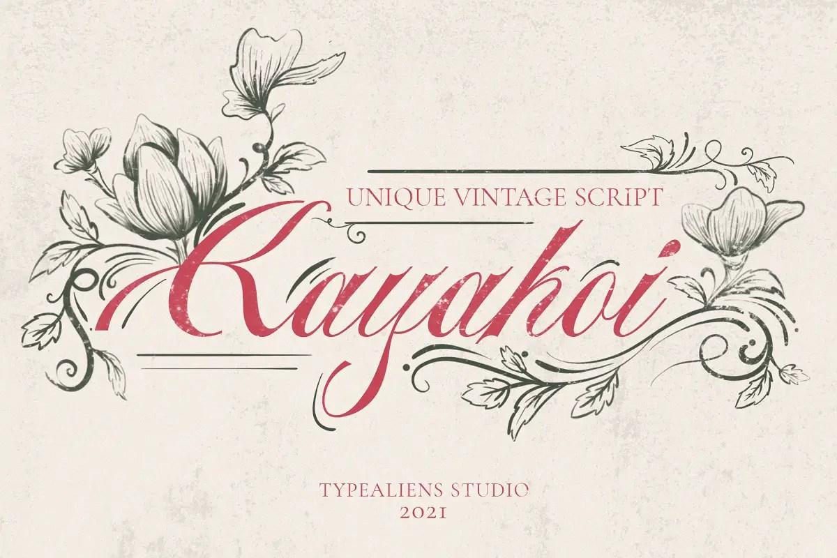 Kayakoi Bautiful Calligraphy Font -1