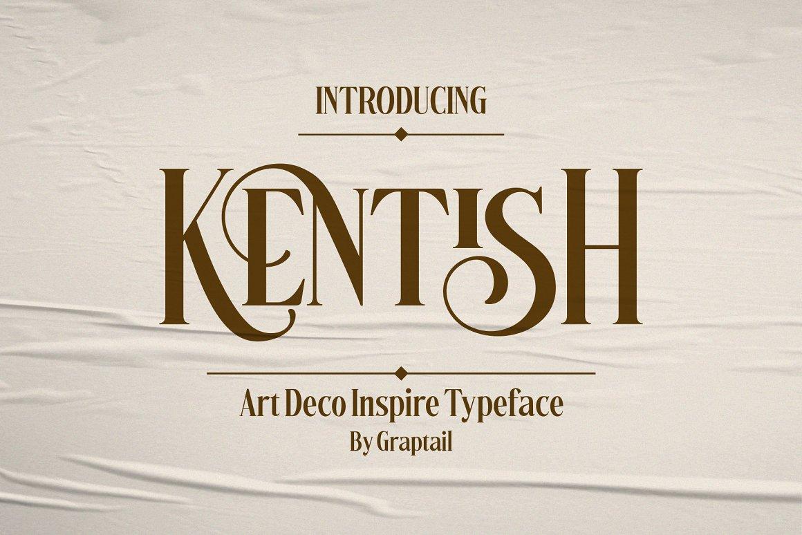 Kentish Serif Display Typeface -1